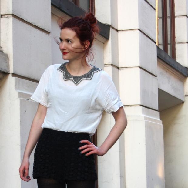 8_lace shorts zara blouse