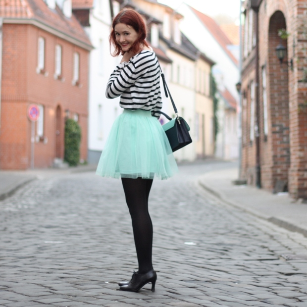 13_outfit_mintgrüner tüllrock gestreiftes Shirt