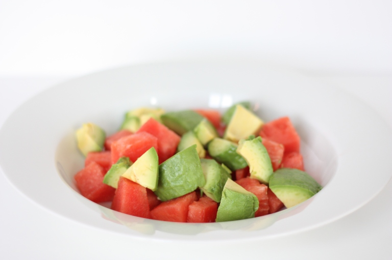 4_Melonen-Avocado-Minz-Salat mit gebratenem Tofu (vegan)