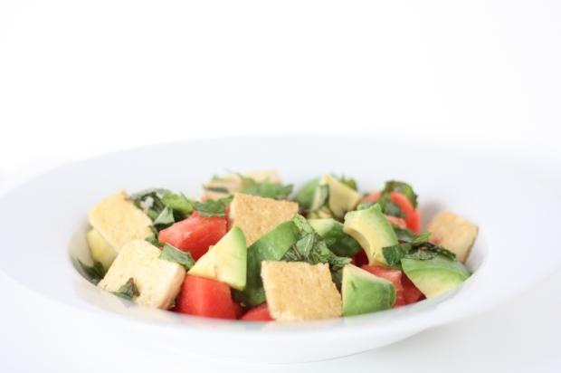 5_Melonen-Avocado-Minz-Salat mit gebratenem Tofu (vegan)