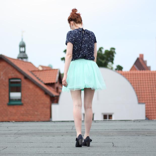 13_mintgrüner Tüllrock blaues Sternenoberteil