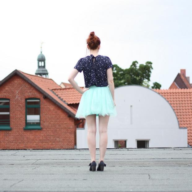 7_mintgrüner Tüllrock blaues Sternenoberteil