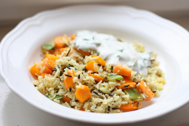 FD7_Limettenreis Gemüse Sojajoghurt vegan
