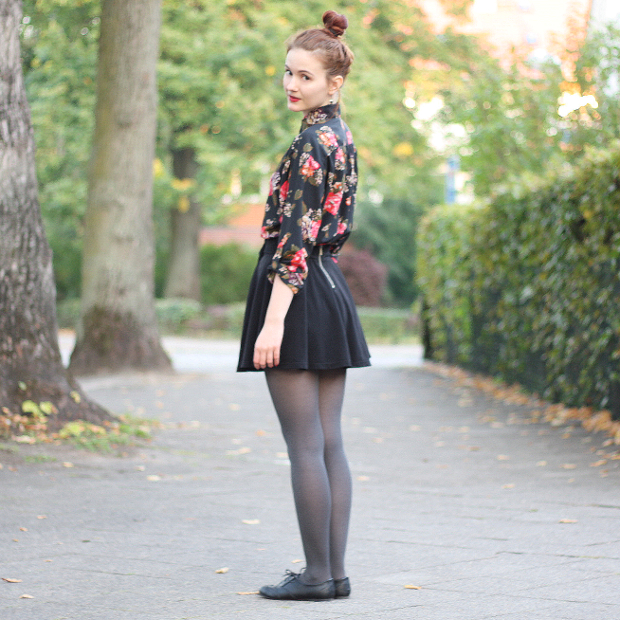 modeblog_outfit_herbst_retro_oversize bluse_skaterrock