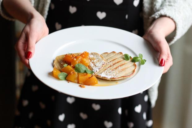 Gegrillte Pancakes mit Aprikosenragout7