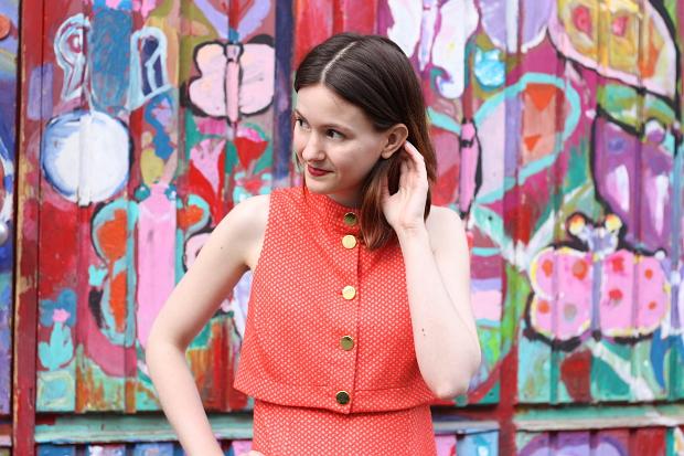 Modeblog Düsseldorf Streetstyle Outfit Farben Vintage Kleid (9)
