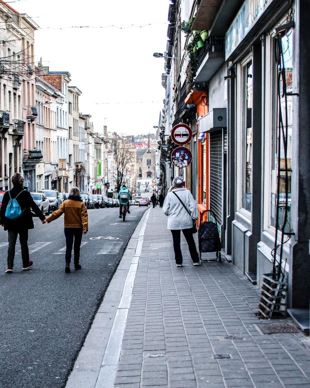 Brüssel_1 Tag vor dem Lockdown_Chaussée d'Ixelles