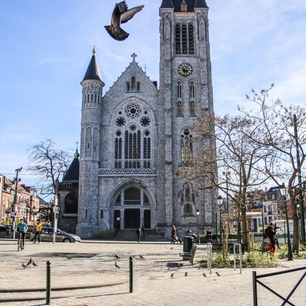 Brüssel_1 Tag vor dem Lockdown_Eglise Saint-Antoine Etterbeek