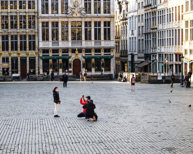 Brüssel_1 Tag vor dem Lockdown_Grand Place 2