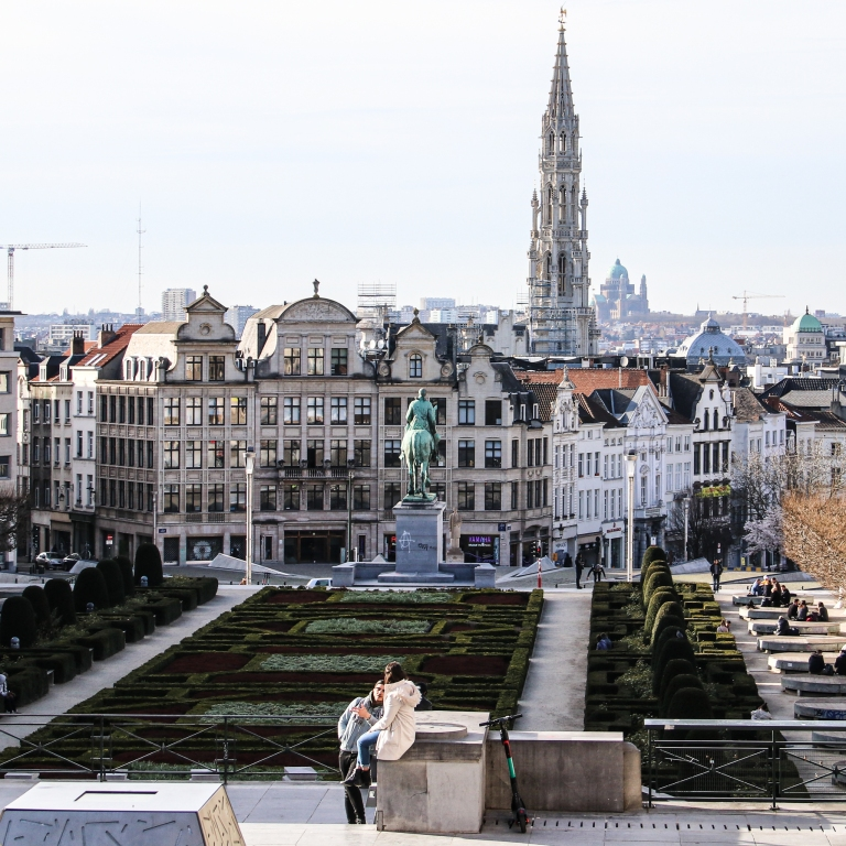Brüssel_1 Tag vor dem Lockdown_Mont des Arts