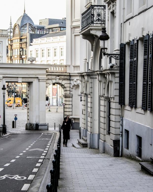 Brüssel_1 Tag vor dem Lockdown_Rue de Namur